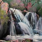 Abrams Falls Painting by JeffeeArt4u