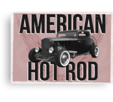 American Hot Rod - red version Canvas Print