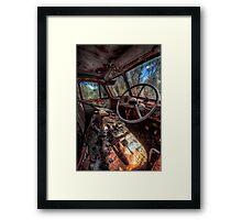 Deceased Timber Truck Framed Print