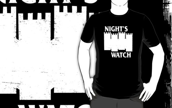 Castle Black ( Night&#x27;s Watch / Game of Thrones shirt) White Logo by IG-HateyHate