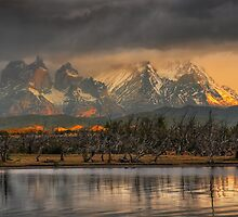 Sunrise in Torres del Paine #2 by Peter Hammer