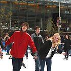 Winter Fun - Skating Fountain Square Cincinnati by Tony Wilder