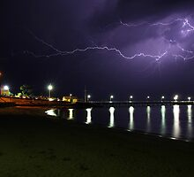 Lightning on The Island by Greg Thomas