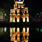 Hoan Kiem Lake reflection by Carl LaCasse