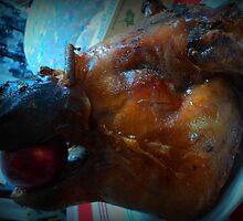 Pork head Lechon ... a small pinch can go big, big, big.... by mariatheresa