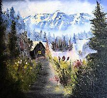 Mountain Cabin by djmartinusen