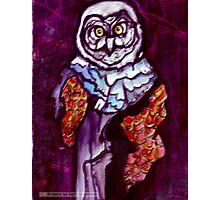 Owl Wizard/ Original work by Amit Grubstein Photographic Print
