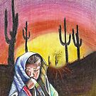 Desert Girl/ORIGINAL PAINTING by Amit Grubstein by AmitArt