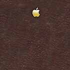Leather with Gold Embossed Metal Apple by goodedesign
