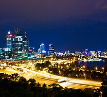 perth. night view by gaillard mathieu