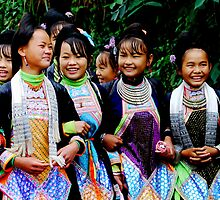 Miao Ethnic Girls  by Brian Bo Mei