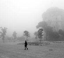 Misty landscape by portokalis