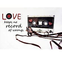 Love Keeps no Record of Wrongs Photographic Print