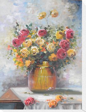 Natureza Morta - Jarro de Rosas -  Óleo sobre tele / Still Life - Pitcher of Roses - oil on canvas by PedroAtanasio