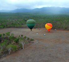 Around the world in a hot air balloon by Sandy Maya Matzen