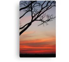 Sunset At Three Borders Canvas Print