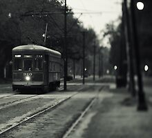 Streetcar on St. Charles Avenue - New Orleans by Alfonso Bresciani