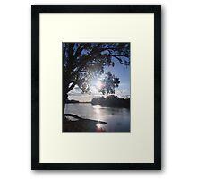 Sunset on the Murray Framed Print