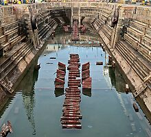 Empty and wet dry-dock by awefaul