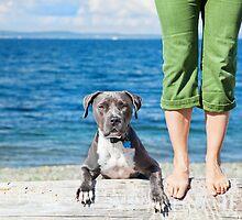 A girl and her dog. by baileyandbanjo