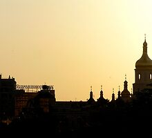 golden domes, golden sky by kchamula
