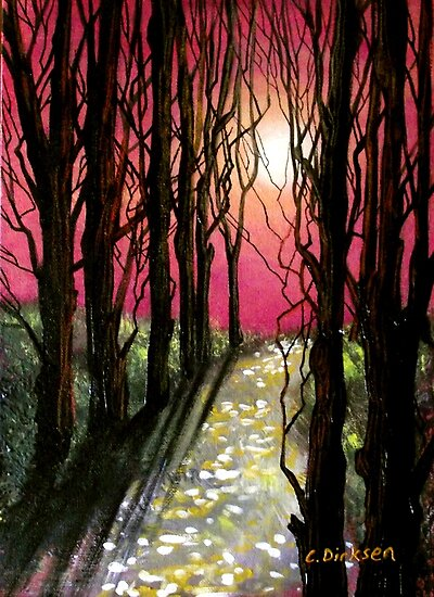 Moonlit Forest by Cherie Roe Dirksen