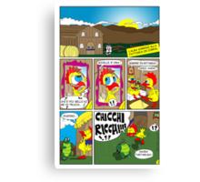 "Rick the chick ""THE MAGIC SHELL (ITALIANO) parte 3"" Canvas Print"
