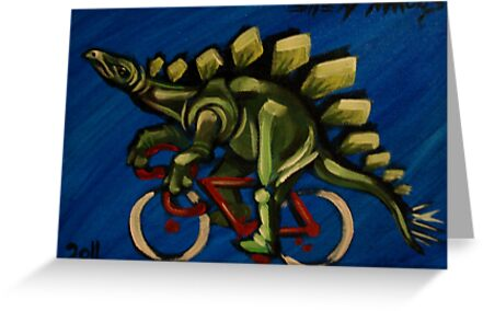 Stegosaurus on a Bicycle by Ellen Marcus
