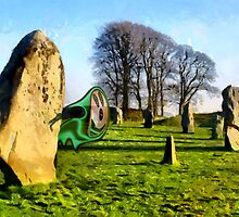 Spooky at Avebury, Wiltshire by Dennis Melling