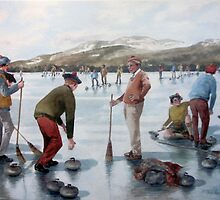 The Grand Match Lake of Menteith 1979 by Joyce Grubb