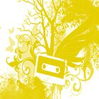 Yellow Cassette Splatter Case by Jenifer Jenkins