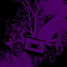 Purple/Black Cassette Splatter Case by Jenifer Jenkins