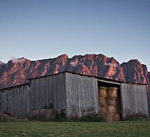Hayshed at Sunset by Tim Wootton