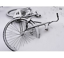 Abandoned in the snow Photographic Print