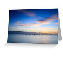 Winter sunset II Greeting Card