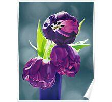 Purple Tulips III. - Oil painting Poster