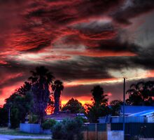 suburbia at sundown by BigAndRed