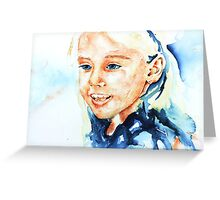 Portrait of lydia Greeting Card