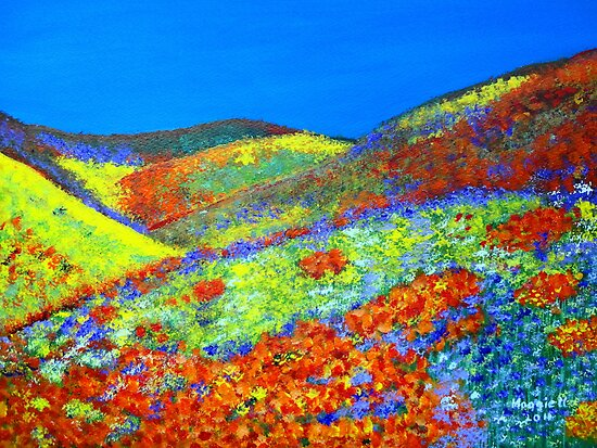Hillside Flowers by maggie326