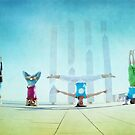 Headstand variations at Barcelona by Wari Om  Yoga Photography