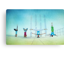 Headstand variations at Barcelona Canvas Print