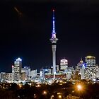 Auckland at night by Darren Bale