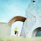Yoga at Gaudi&#x27;s Building &#x27;La Pedrera&#x27;, Barcelona by Wari Om  Yoga Photography