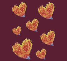 Hearts Burn  T or Stickers by gr8erAchilles