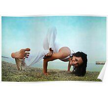 Balance and strengh Asana at the Beach Poster