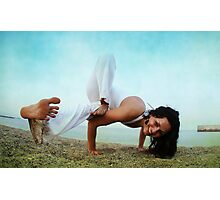 Balance and strengh Asana at the Beach Photographic Print