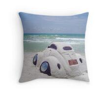 VW sand sculpture Throw Pillow