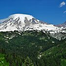 Mt. Rainier between the Valley by Terrie Heslop