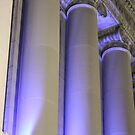 Blue Columns by D.M. Mucha