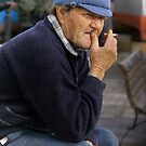 Pensive Elderly Fisherman (M'Xlokk Malta) by Edwin  Catania